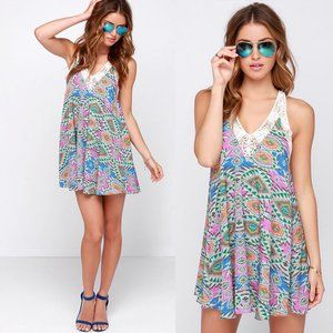 Lovers + Friends Hula Mosaic Print Dress